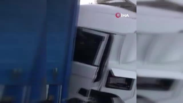 Bulgaristan'da 22 tır zincirleme kaza yaptı: 1 ölü